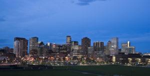Skyscrapers in Downtown Denver, Colorado.