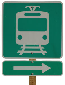 Light Rail Station Right sign