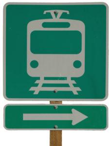Light Rail Station Right sign