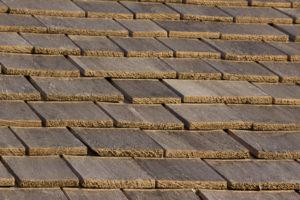 Natural wood shake roof