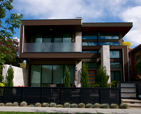 Modern two story home.
