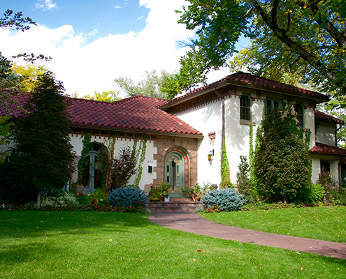 Classic Spanish roof house in Cherry Creek Country Club Denver.