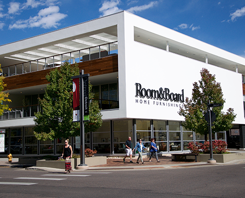 Room & Board store in Cherry Creek Denver.