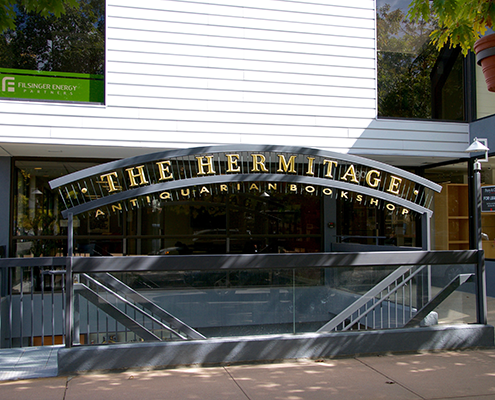 The Hermitage sidewalk entrance in Cherry Creek Denver.