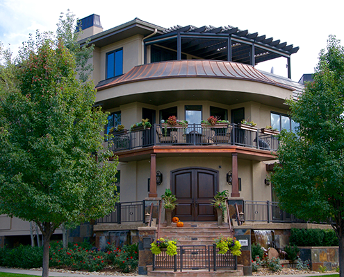 Large corner home in Cherry Creek Country Club neighborhood.