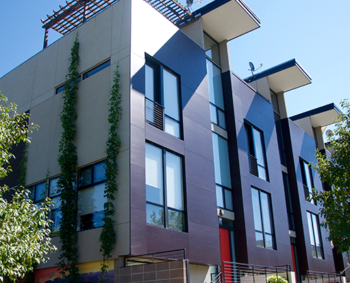 Modern townhomes in Five Points Denver.