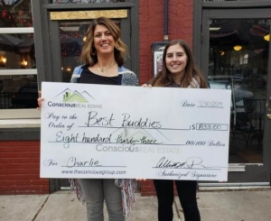 Allison Parks of Conscious Real Estate donates to Best Buddies