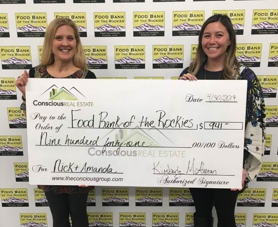 Conscious Real Estate donates to Food Bank of the Rockies